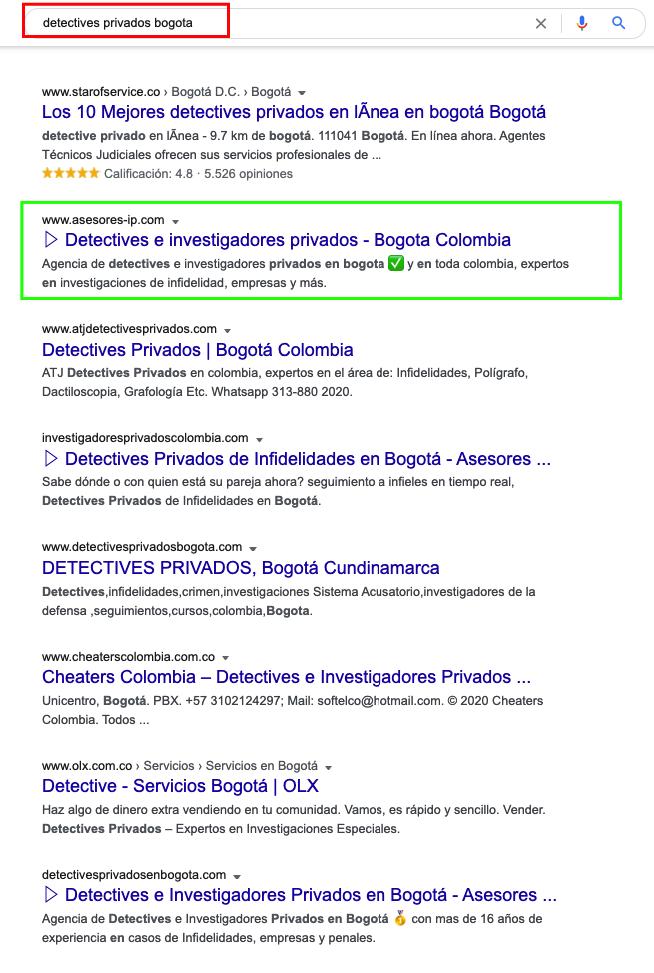 Posicionamiento Web en Bogotá